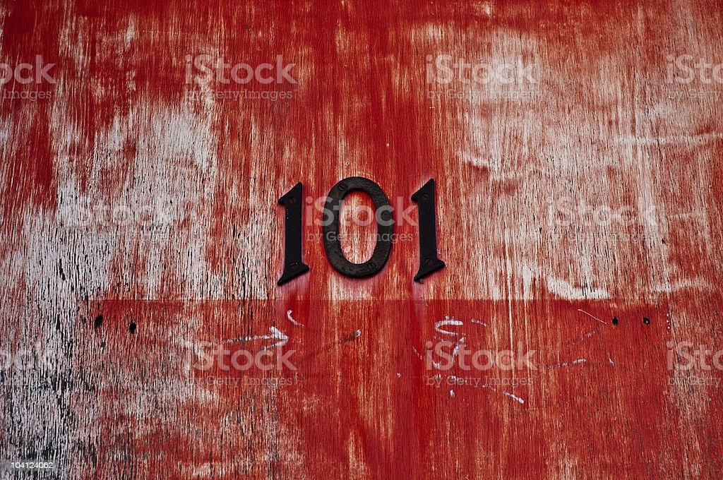 101, number on a door. royalty-free stock photo