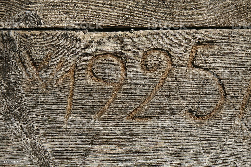 Number on a wood stock photo