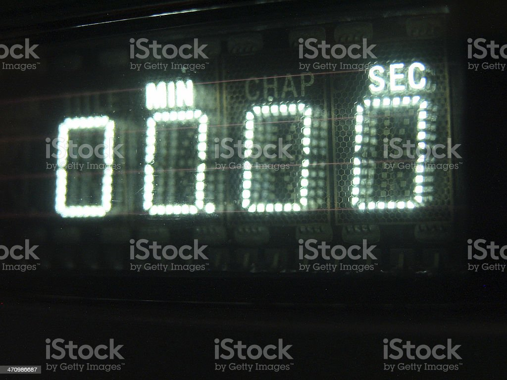 Number on Display 00 royalty-free stock photo