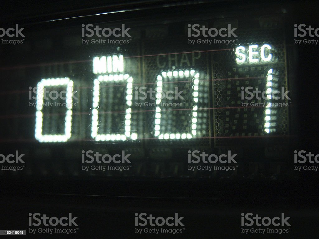 Number on Display 01 stock photo