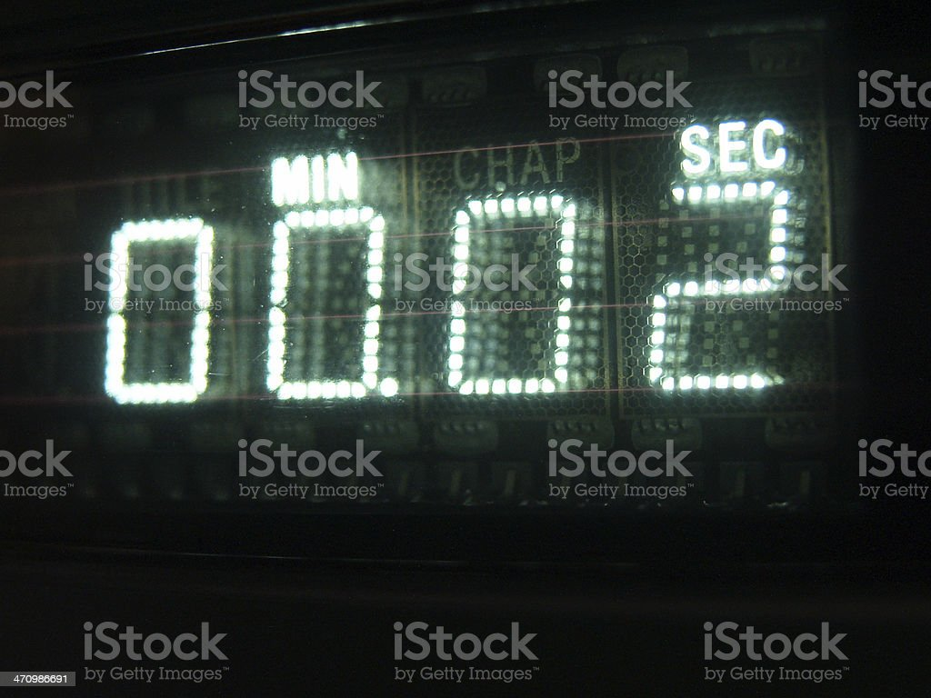 Number on Display 02 stock photo