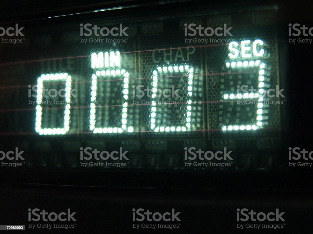 Number on Display 03 royalty-free stock photo