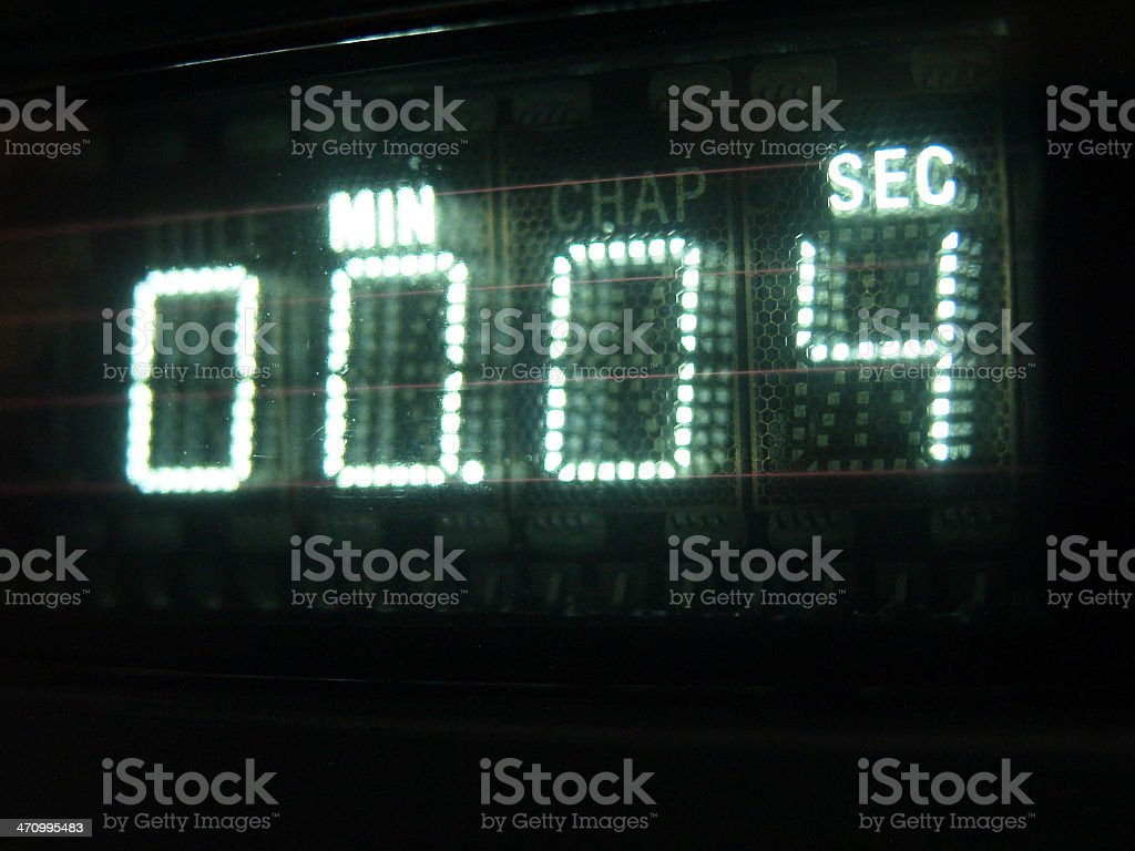 Number on Display 04 stock photo