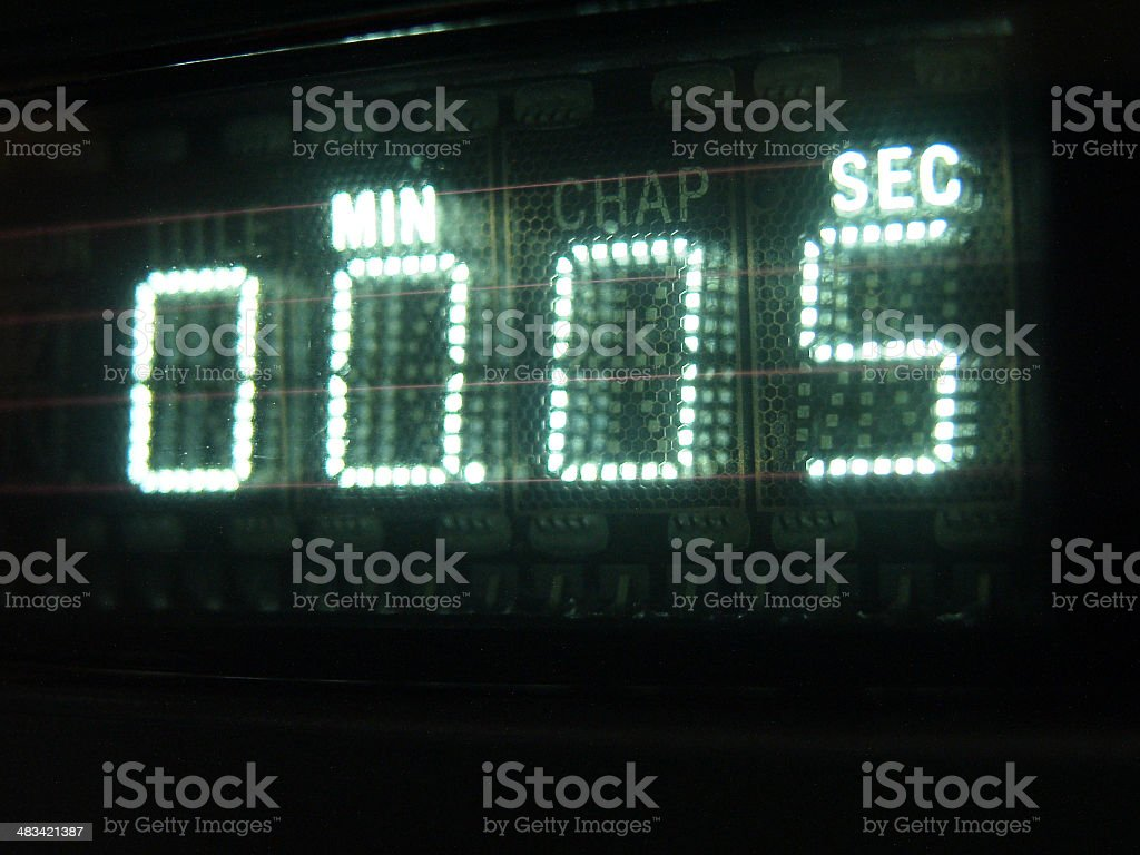 Number on Display 05 stock photo