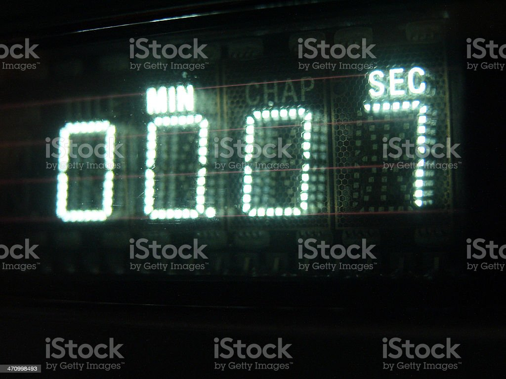 Number on Display 07 stock photo