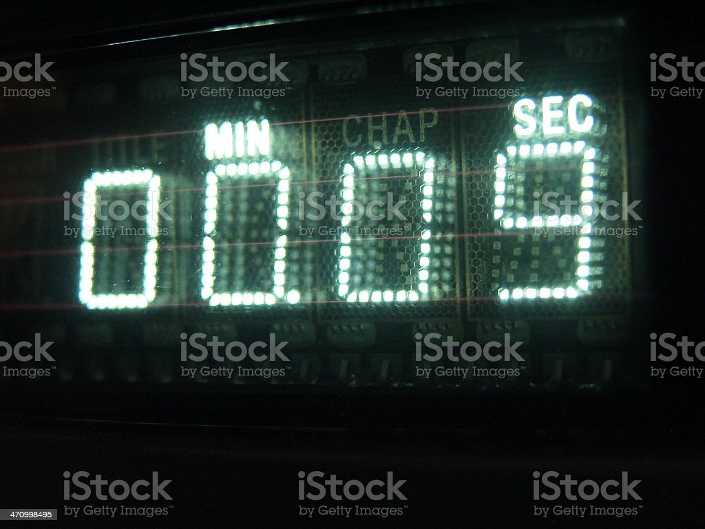Number on Display 09 stock photo