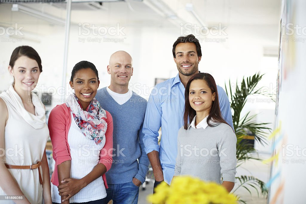 Number one business team royalty-free stock photo