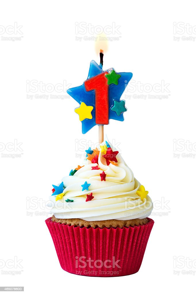 Number one cupcake stock photo