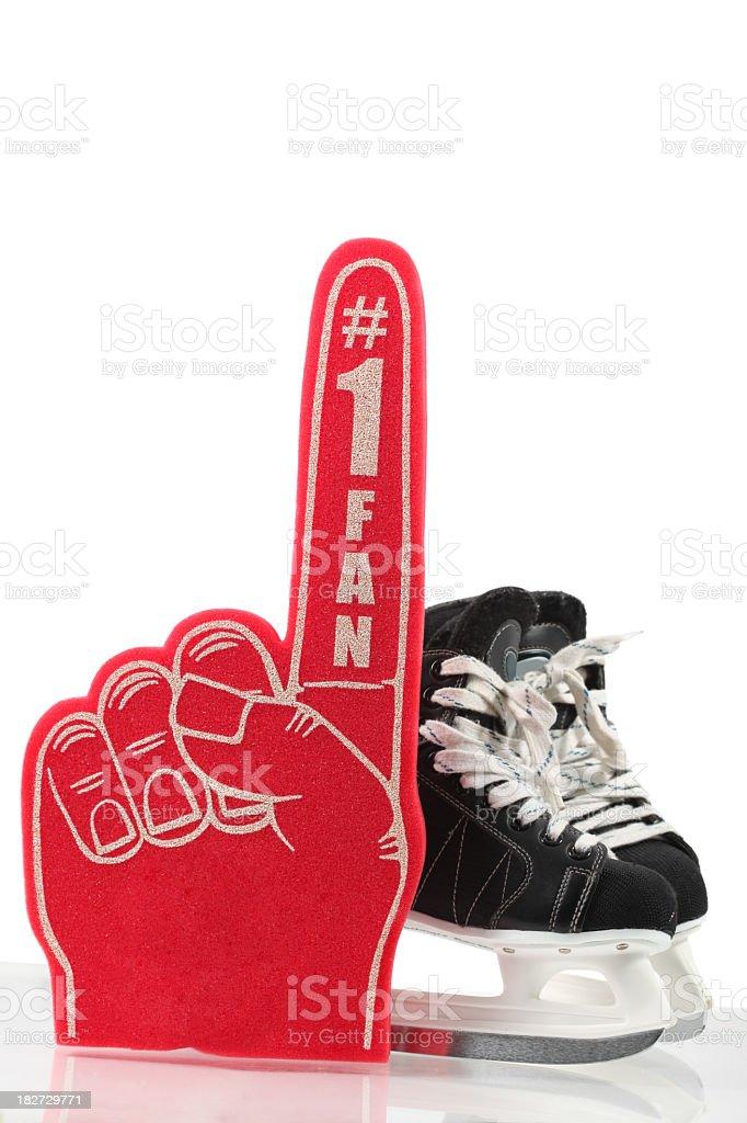 Number One Fan Hockey stock photo