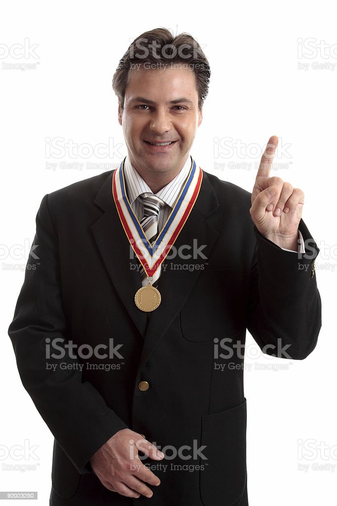 Number One in Business royalty-free stock photo