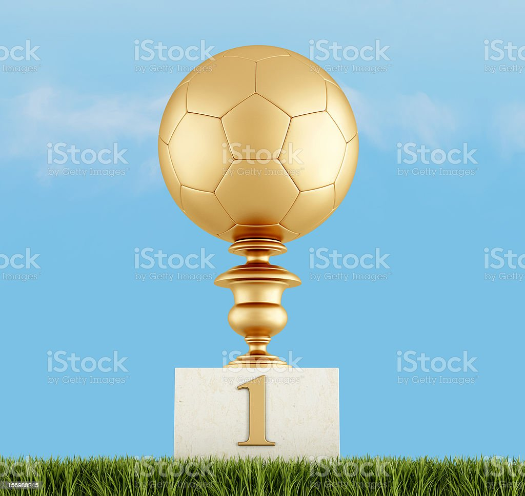 number one in football royalty-free stock photo