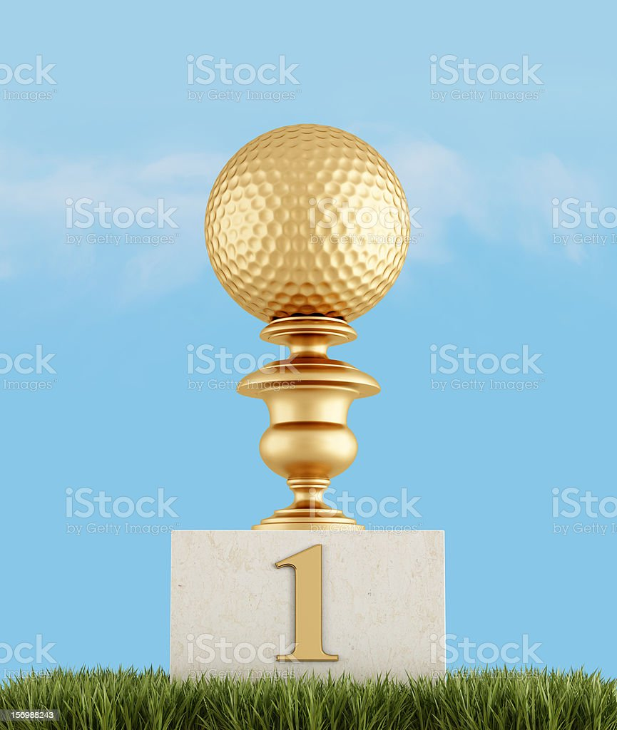 number one in golf royalty-free stock photo