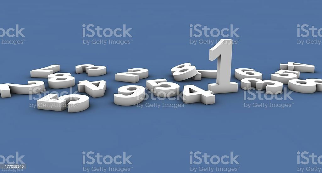 SEO number one ranking 3D numbers royalty-free stock photo