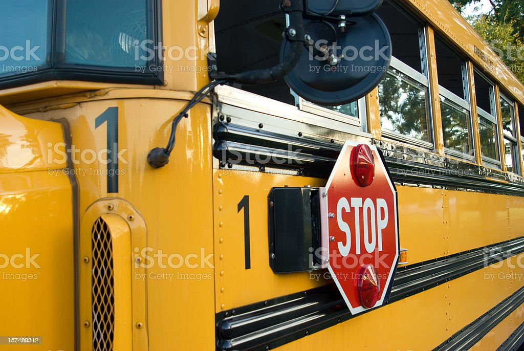 Number One School Bus royalty-free stock photo