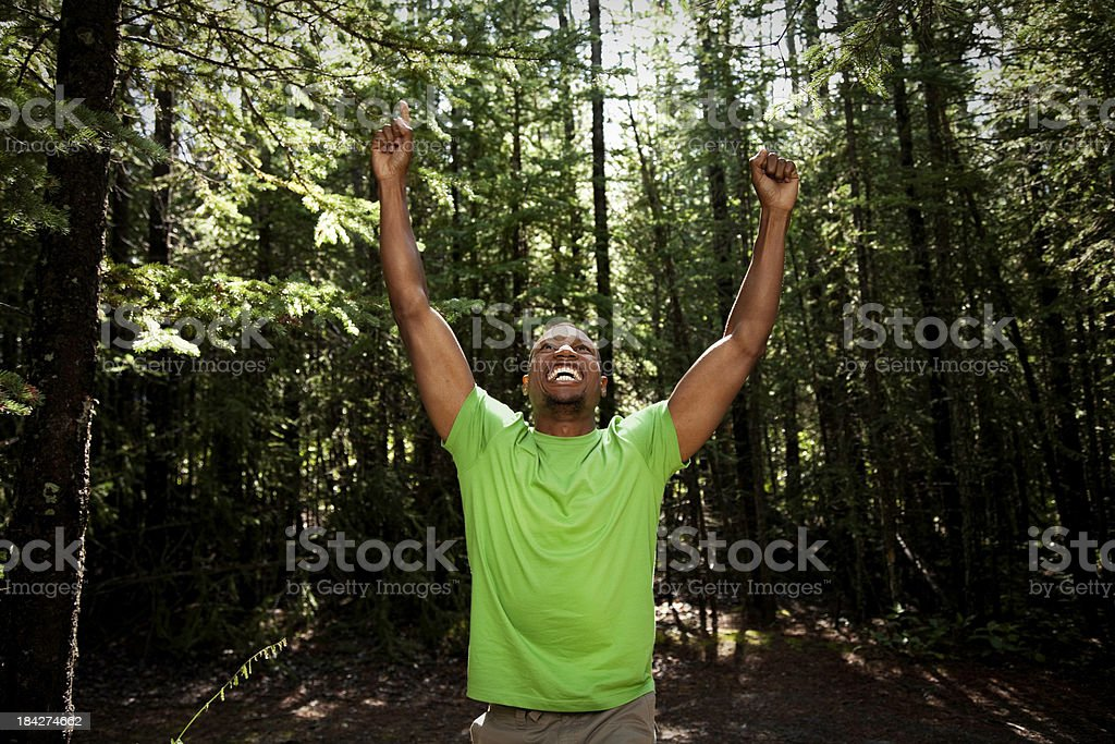 Number One Victorious Man royalty-free stock photo