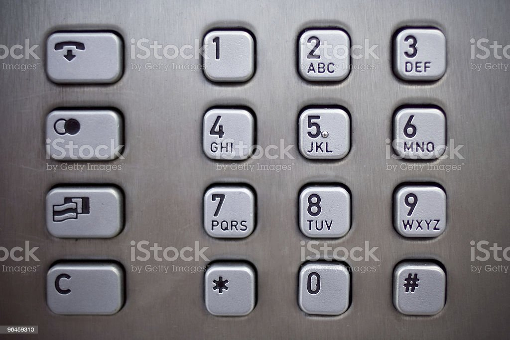 number pad royalty-free stock photo