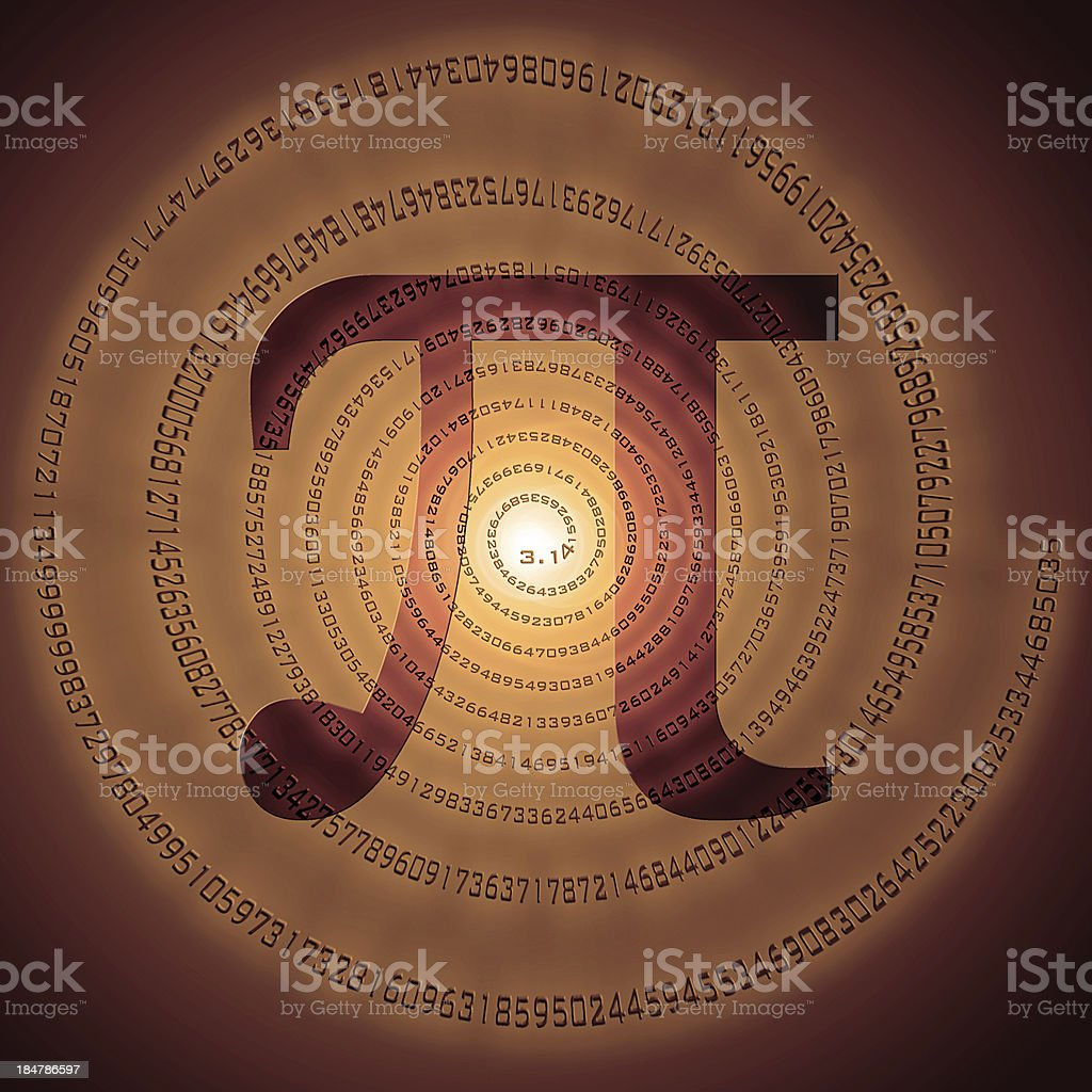 number Pi royalty-free stock photo