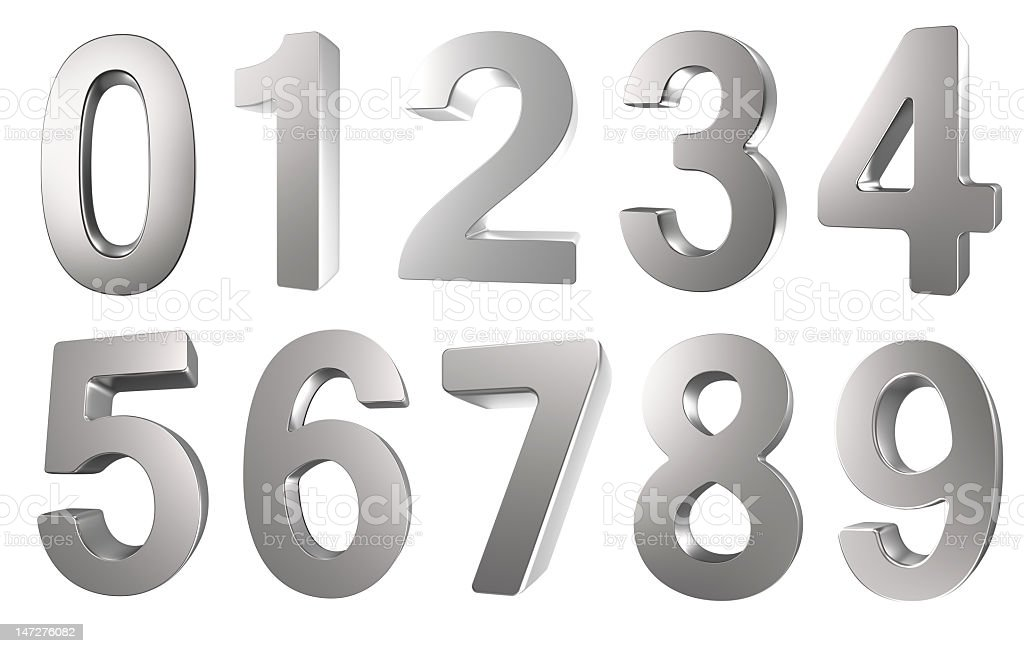 3D Number stock photo
