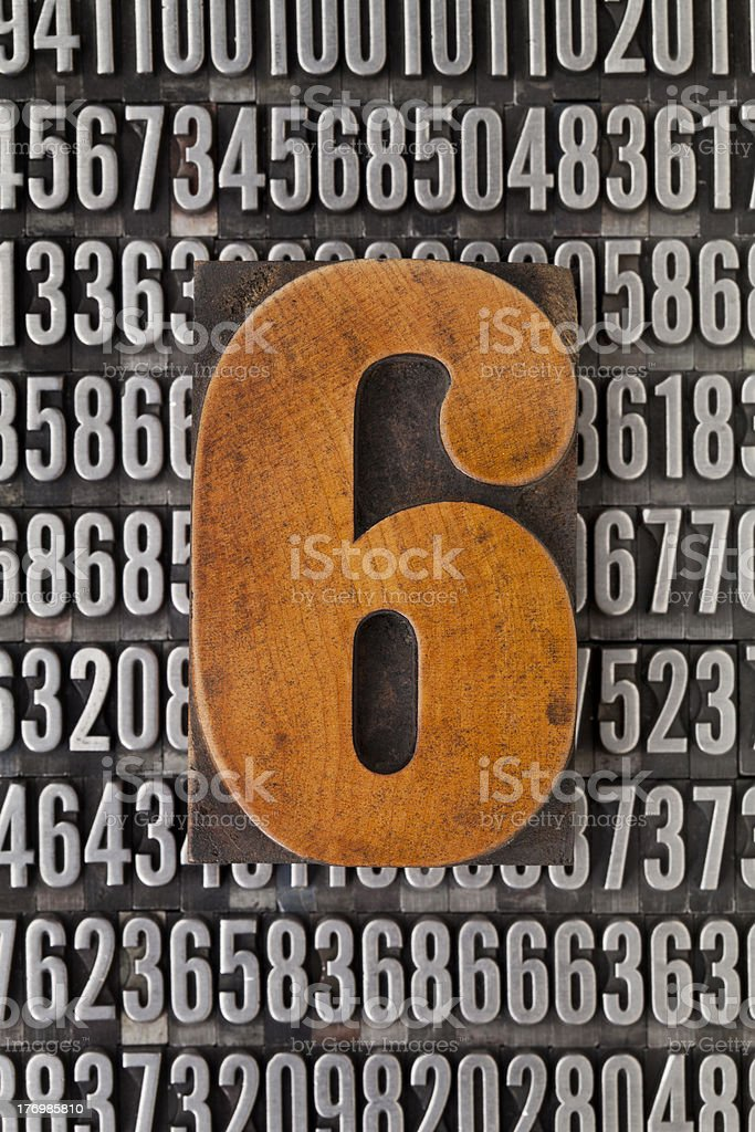 number six  - numerical abstract royalty-free stock photo
