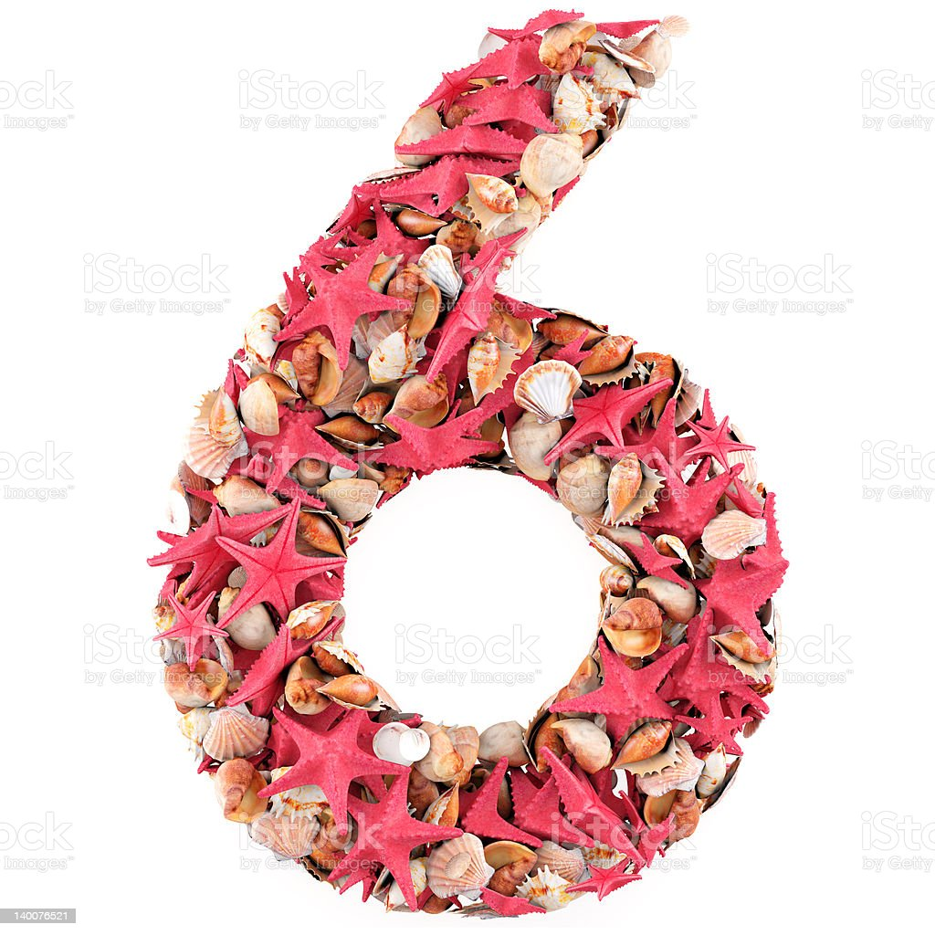 Number six royalty-free stock photo