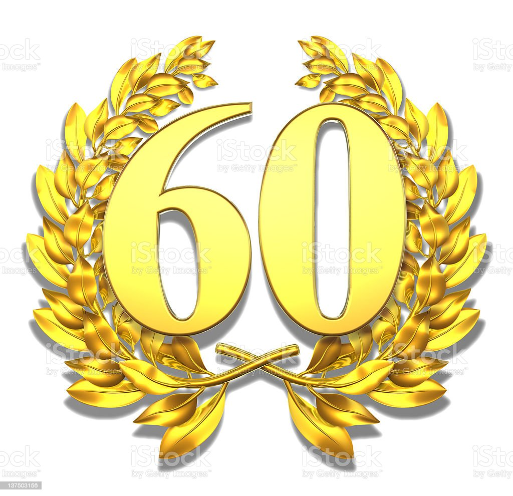 Number sixty royalty-free stock photo
