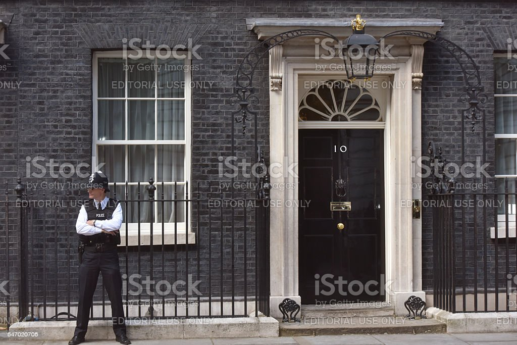 Number Ten Downing Street stock photo