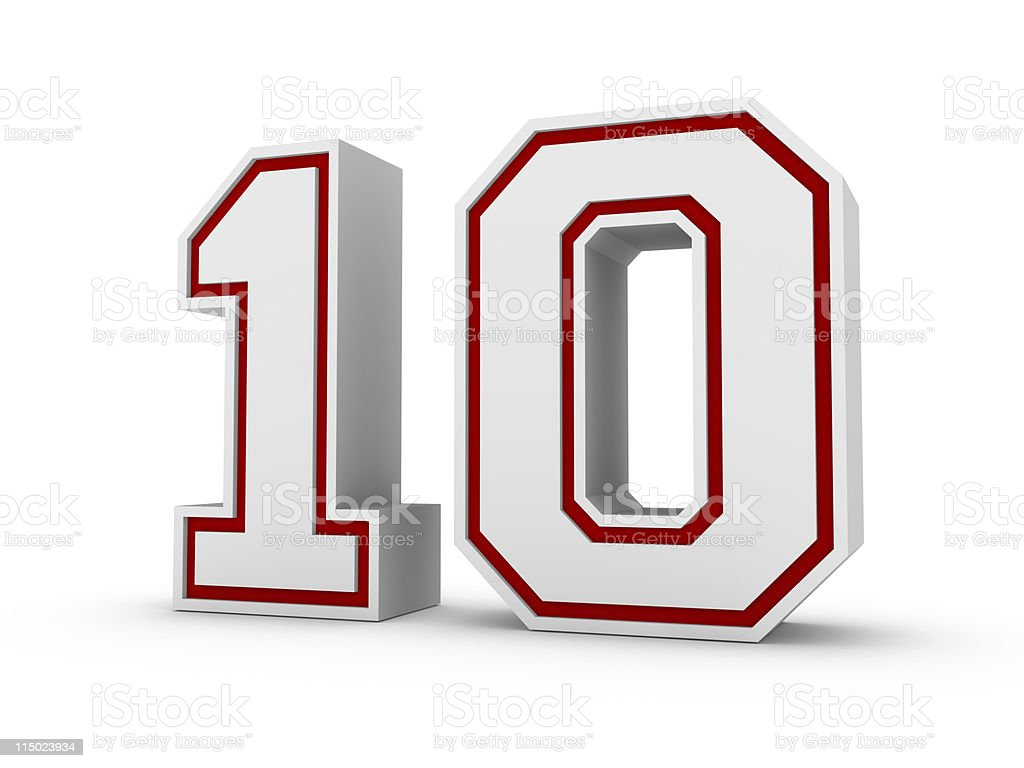 Number ten in school style font royalty-free stock photo