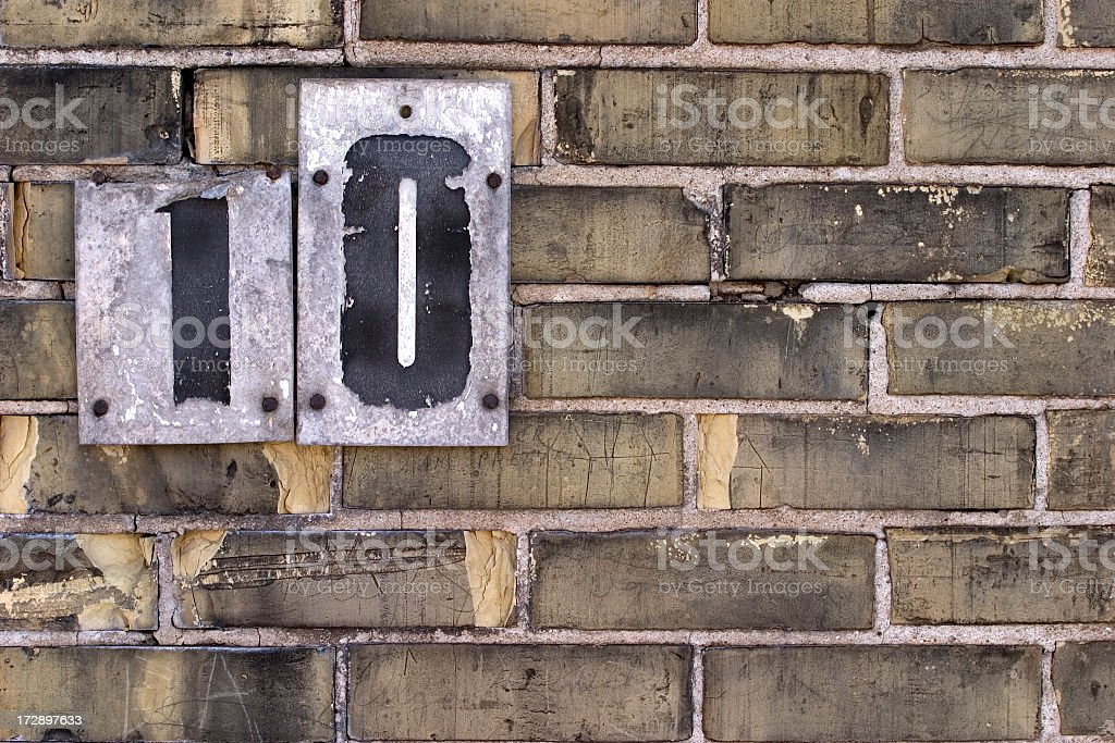 Number Ten royalty-free stock photo