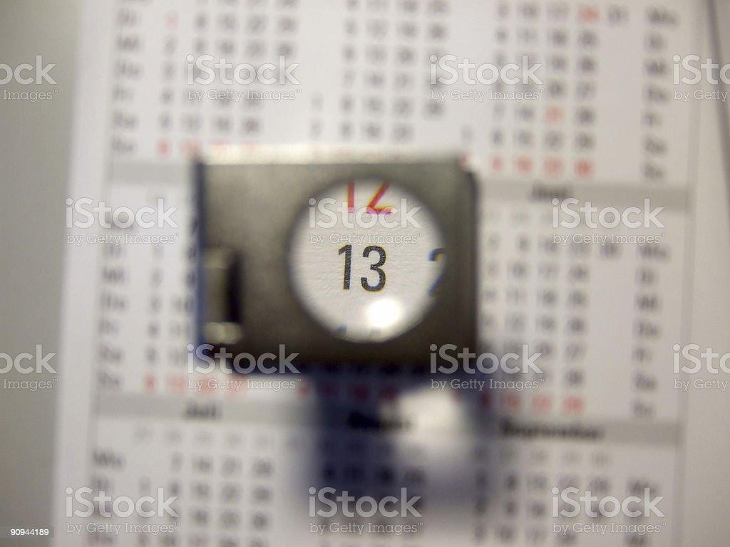 number thirteen / 13 stock photo