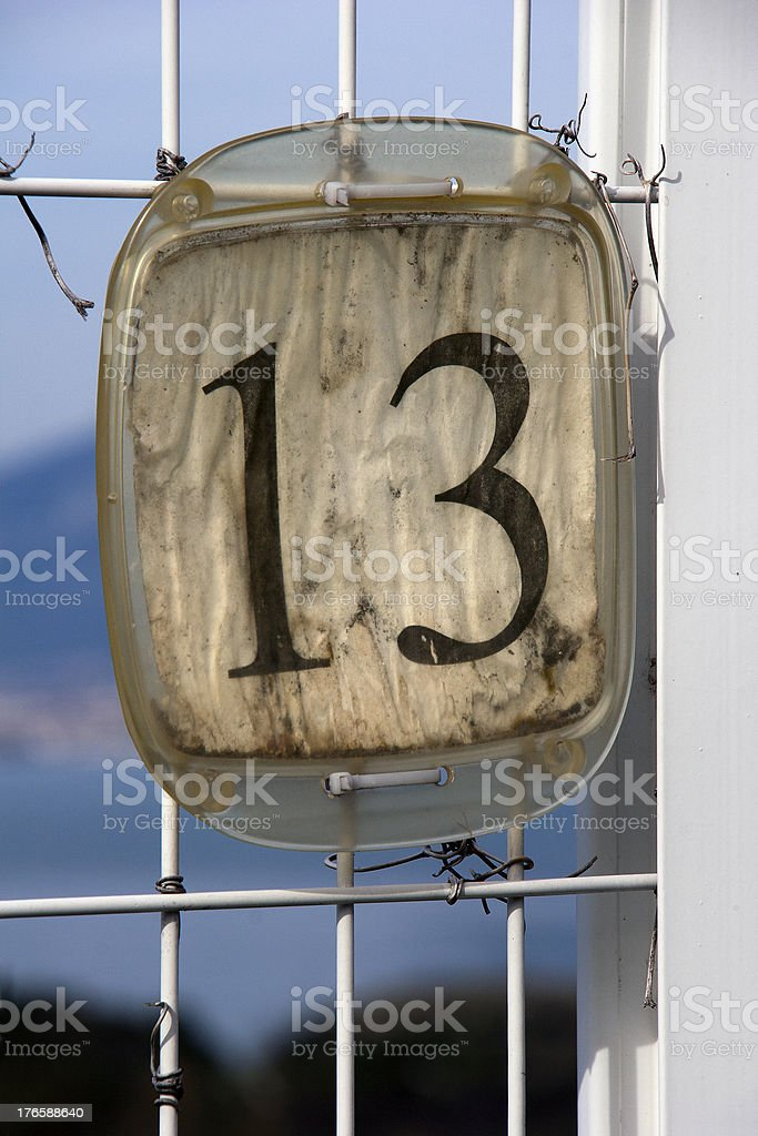 Number thirteen royalty-free stock photo