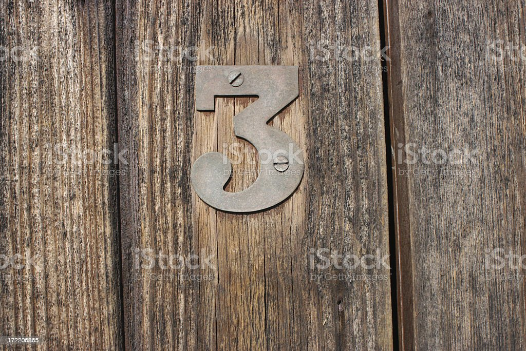 Number Three royalty-free stock photo