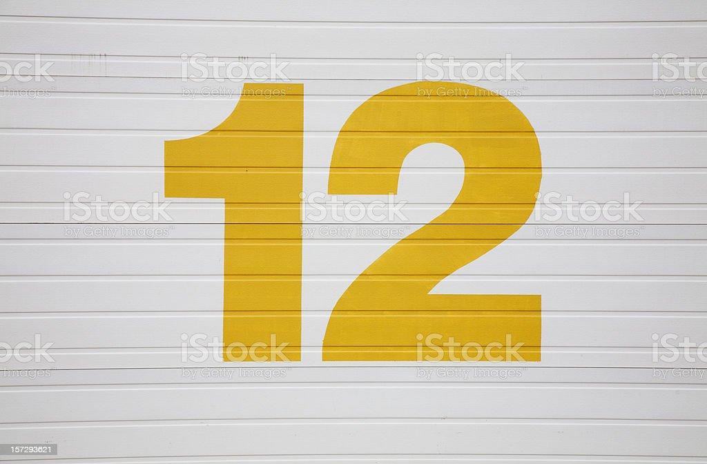 Number Twelve stock photo