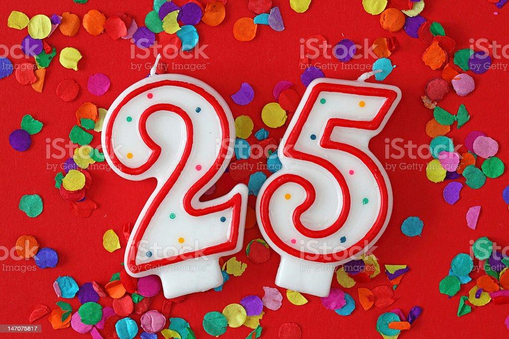 Number twenty five royalty-free stock photo