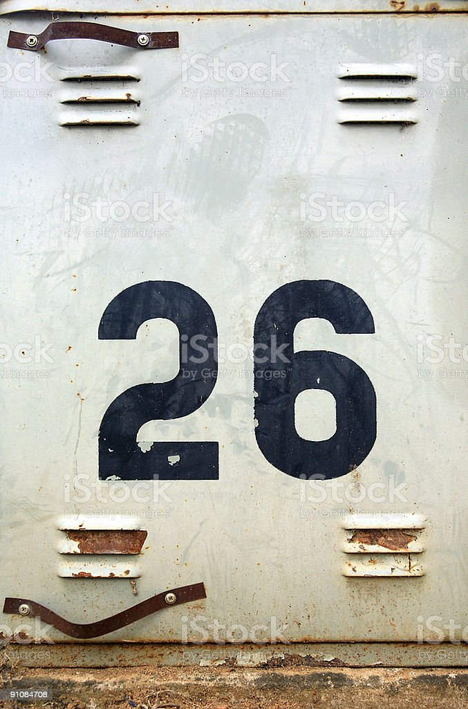 Number Twenty Six royalty-free stock photo