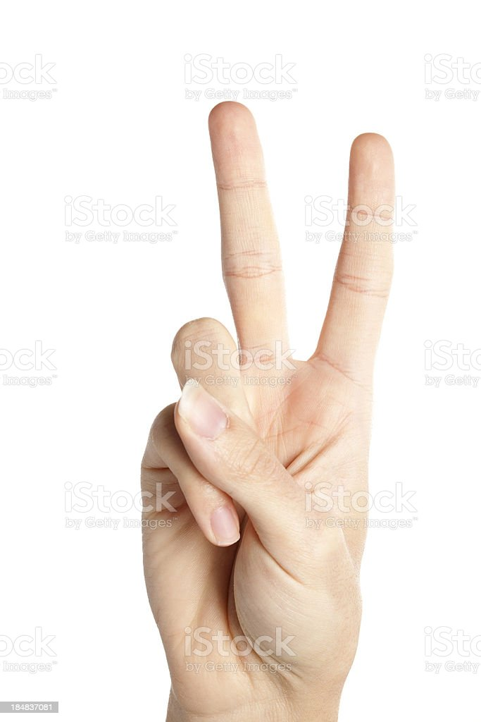 Number Two, Peace royalty-free stock photo