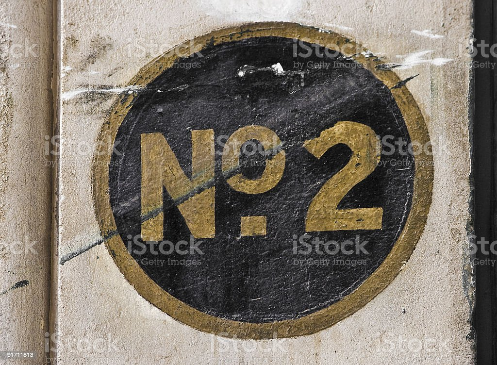 Number Two royalty-free stock photo