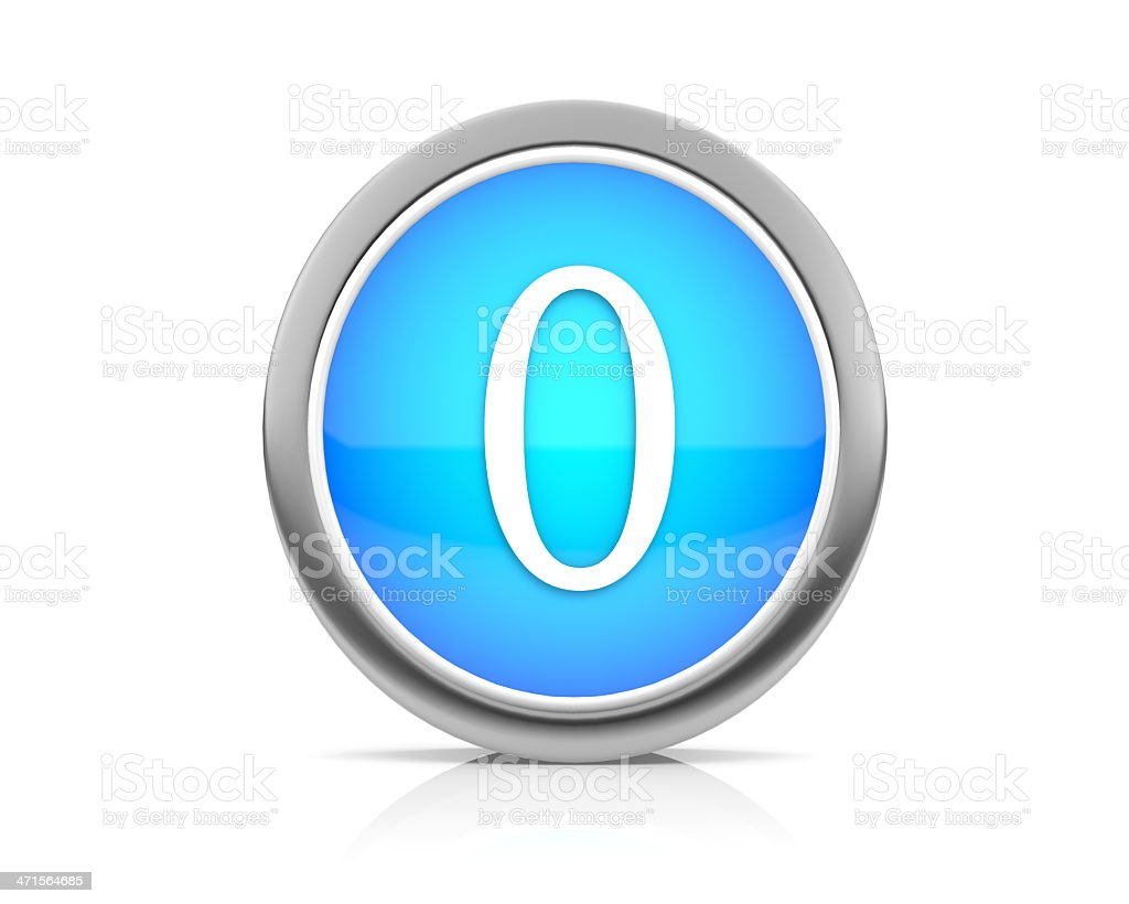 number zero royalty-free stock photo