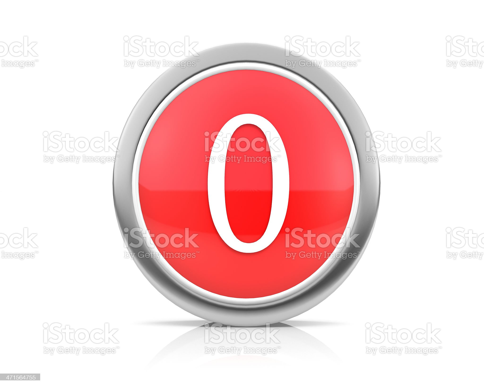 number0 royalty-free stock photo