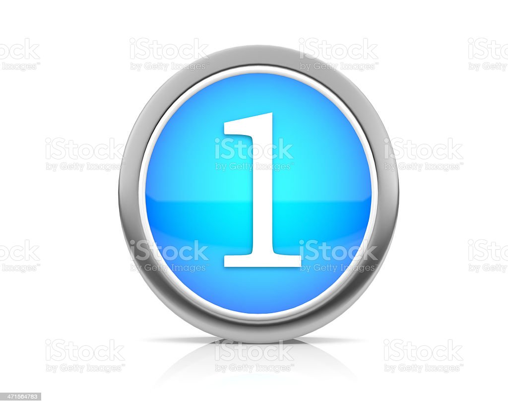 number1 royalty-free stock photo