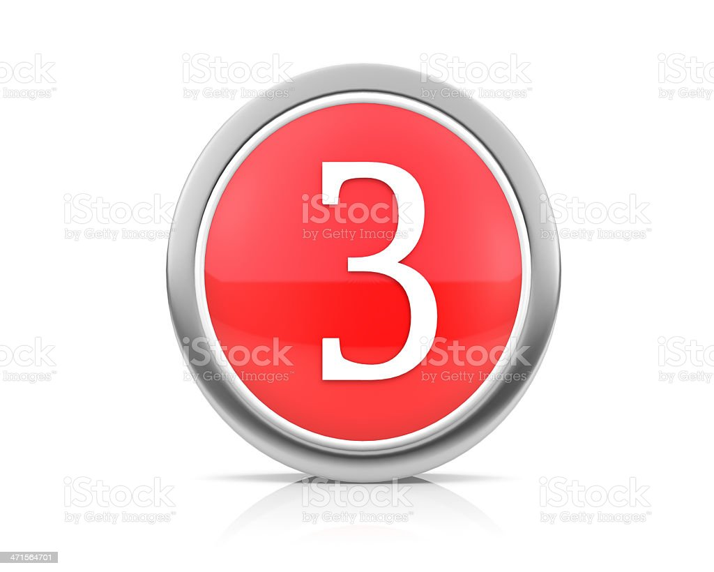 number3 royalty-free stock photo