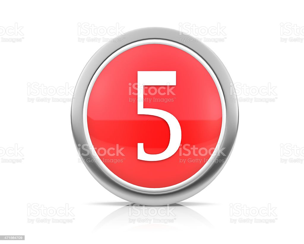 number5 royalty-free stock photo