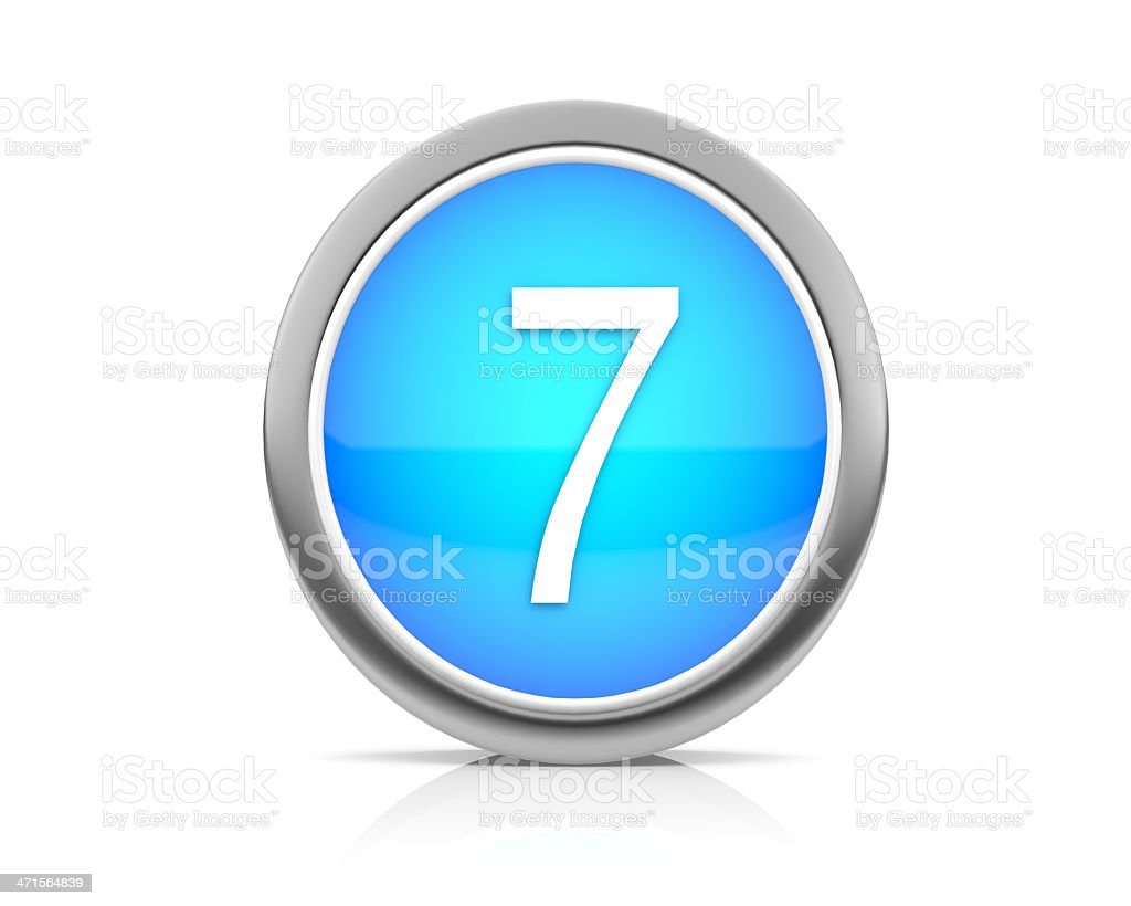 number7 royalty-free stock photo