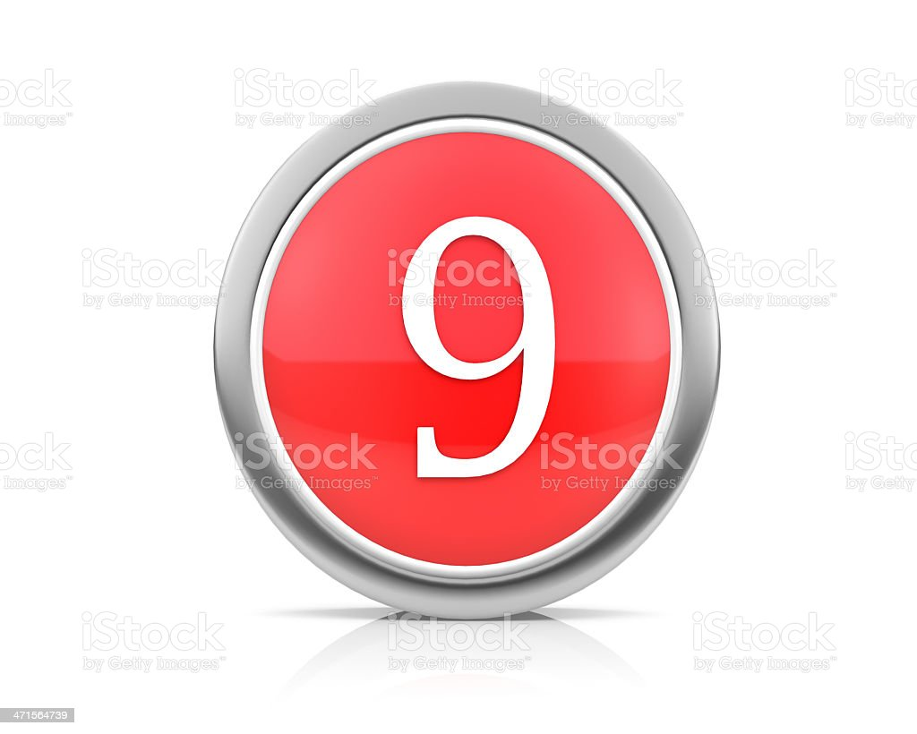 number9 royalty-free stock photo