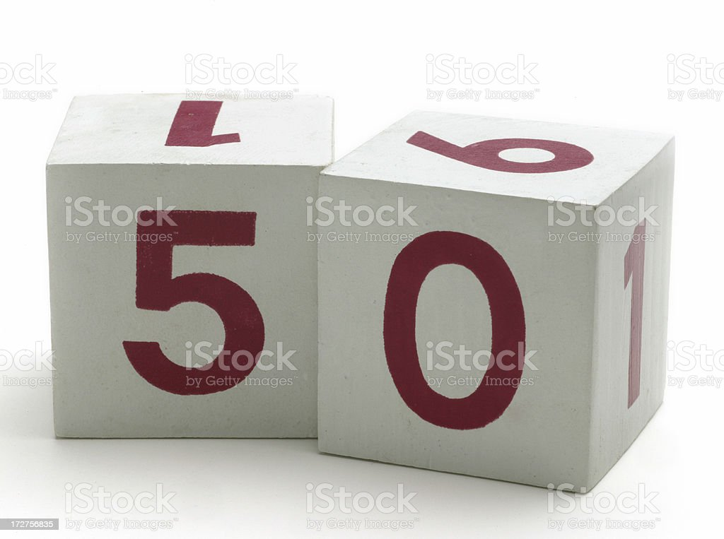 Numbered Blocks - 50 royalty-free stock photo