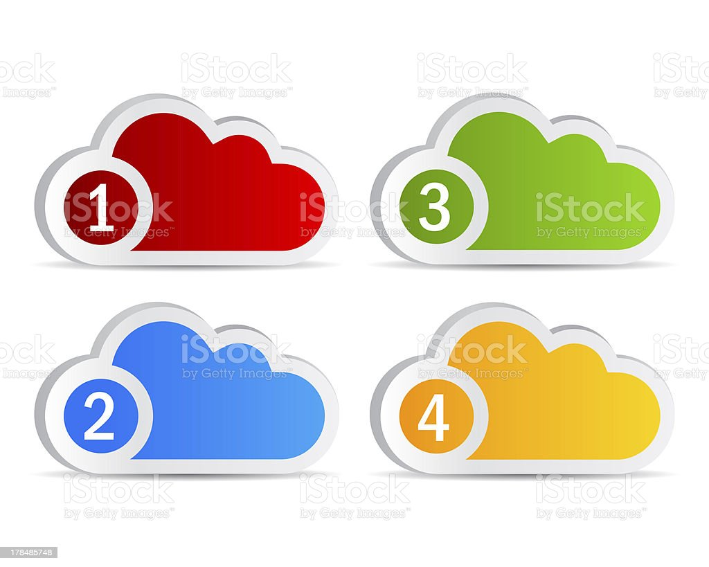 Numbered clouds royalty-free stock photo