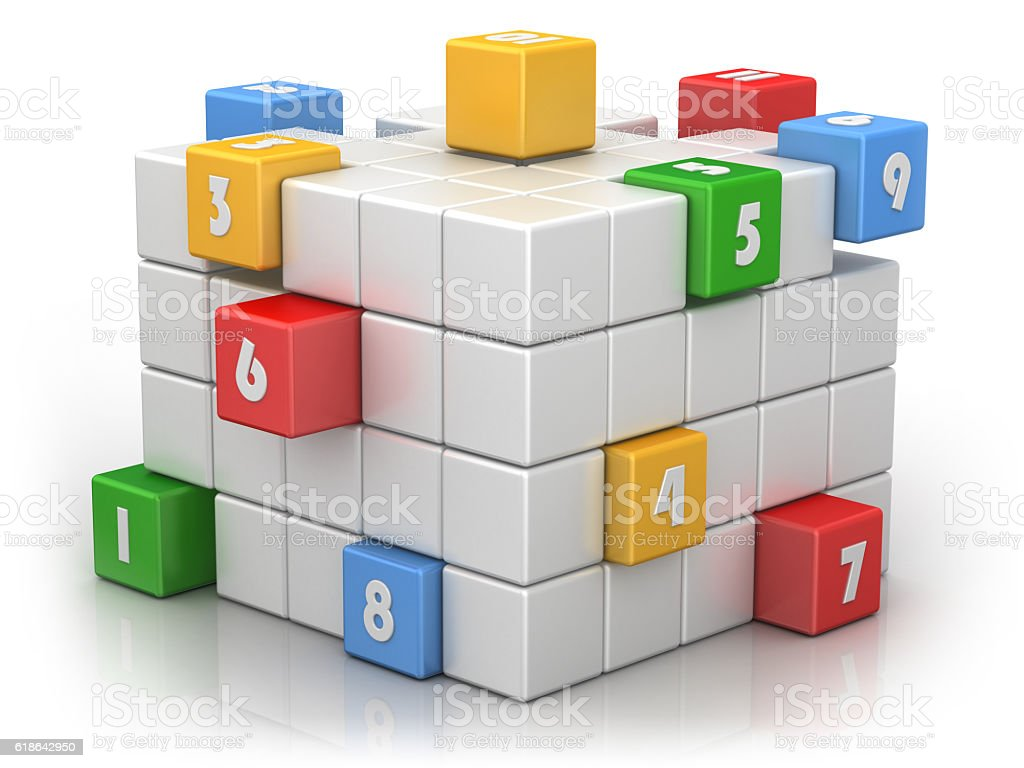 Numbered Cubes - Business Teamwork stock photo