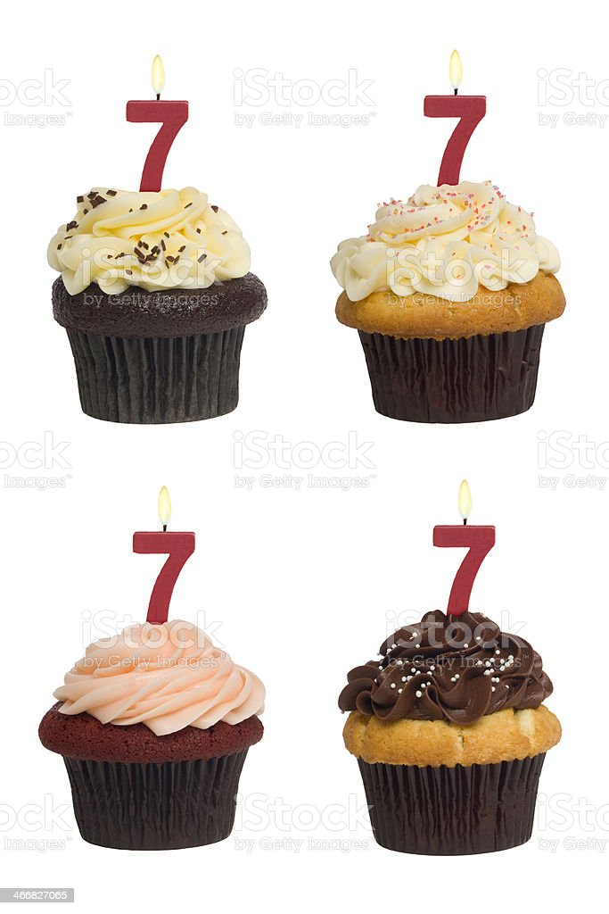 Numbered Cupcake royalty-free stock photo