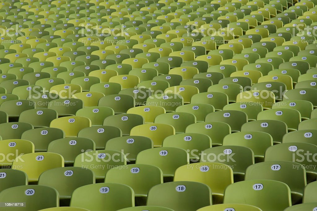numbered seats royalty-free stock photo