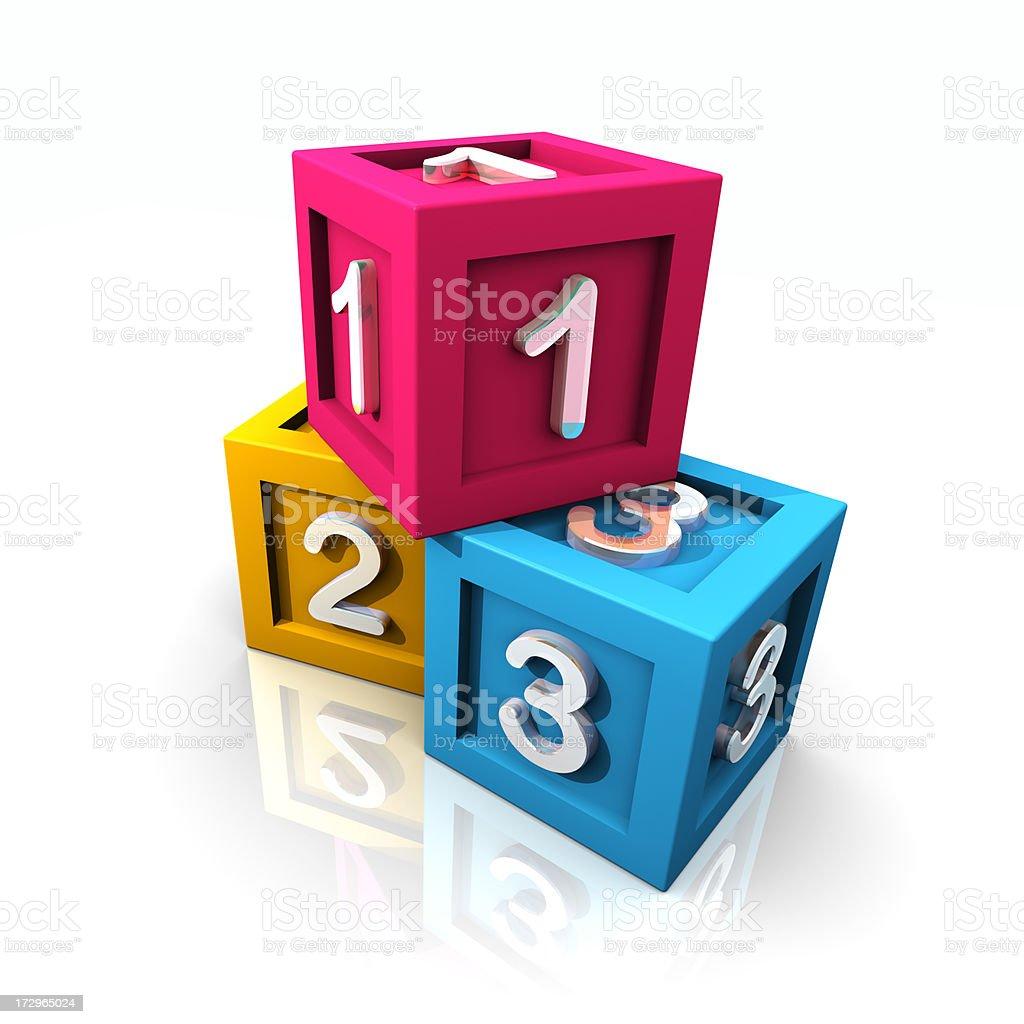 Numbered Toy Blocks stock photo