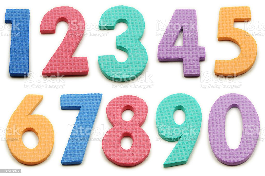 Numbers 0 through 9 XXL royalty-free stock photo